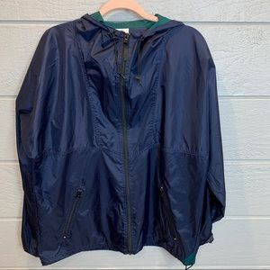 Helly Hansen Navy & Green Nylon Rain Jacket